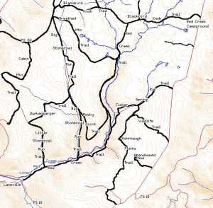 Red Creek Canyon Map